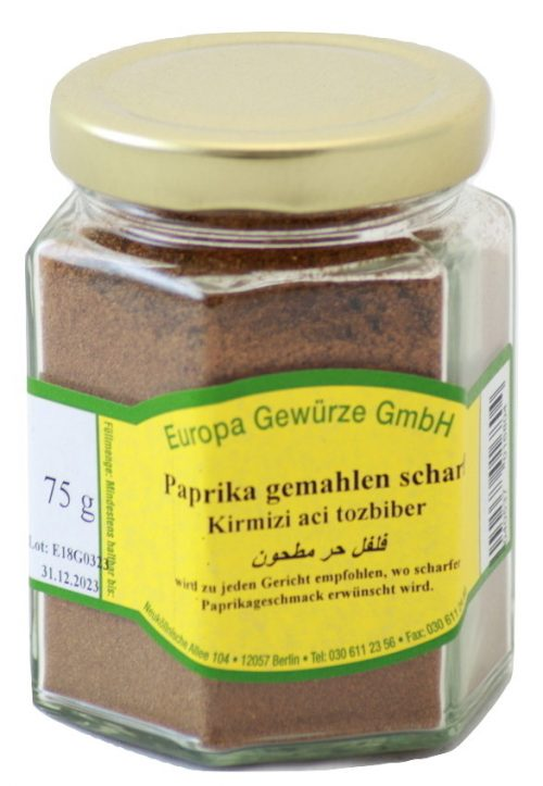 hot pepper paprika ground powder spices